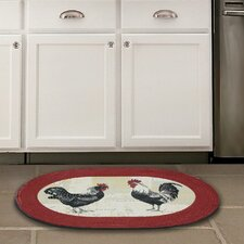 Rooster Red Area Rug