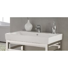 "Milano 30"" Console Bathroom Sink with Overflow"