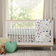 Fleeting Flora 4 Piece Mini Crib Bedding Set