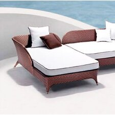 Modern Flora Right Corner Daybed Sectional Piece with Cushion