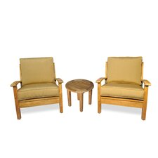 3 Piece Teak Deep Seating Group with Cushion