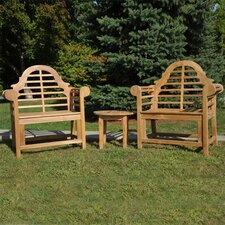 Lutyens Teak Indoor/Outdoor 3 Piece Lounge Seating Group
