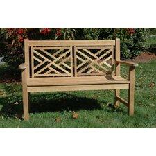 Teak Chippendale Garden Bench