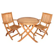 Boca Raton Balcony 3 Piece Dining Set