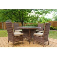 Del Ray 5 Piece Dining Set with Cushion