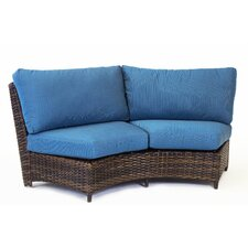 St Tropez Curved Loveseat with Cushion