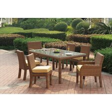 Java 7 Piece Dining Set with Cushion