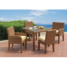 Java 5 Piece Dining Set with Cushion