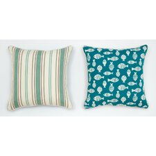 Fresh Cabana Life Luxe Seamist Throw Pillow