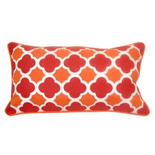 Mini Quatrefoil Indoor/Outdoor Lumbar Pillow