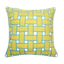 Basket Weave Outdoor Throw Pillow