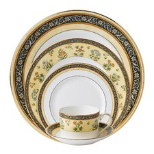 India Bone China 5 Piece Place Setting, Service for 1