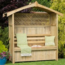 Hampshire 3 Seater Arbour with Storage Box