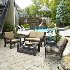 Lanai Breeze 5 Piece Seating Group with Cushions (Set of 5)