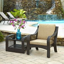 Lanai Breeze 2 Piece Chair and Table Set with Cushions