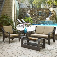 Lanai Breeze 4 Piece Seating Group with Cushions (Set of 4)