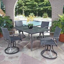 Stone Veneer 5 Piece Dining Set