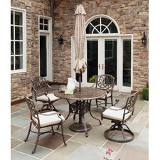 Lingle 5 Piece Dining Set with Umbrella