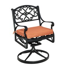 Biscayne Swivel and Rocking Dining Arm Chair with Cushion