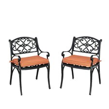 Biscayne Dining Arm Chair with Cushion (Set of 2)