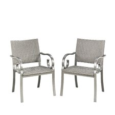 Capri Outdoor Dining Arm Chair (Set of 2)