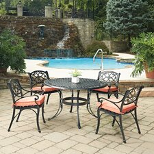 Biscayne 5 Piece Dining Set with Cushion