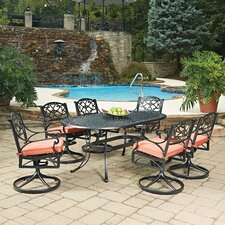 No Copoun Biscayne Oval 7 Piece Dining Set with Cushion
