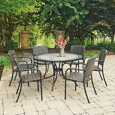 Marble Top Round 7 Piece Dining Set