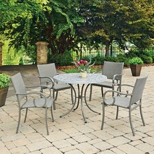 Capri Concrete Stenciled 5 Piece Dining Set