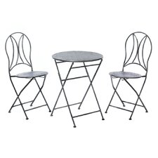 Wonderful Hammered Textured 3 Piece Bistro Set