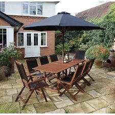 Bali 8 Seater Dining Set with Parasol