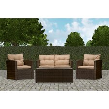 Today Only Sale Baxton Studio Imperia 4 Piece Seating Group with Cushions