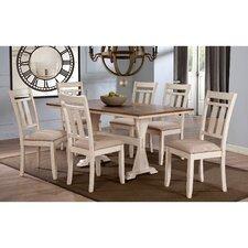 baxton studio roseberry  piece dining set: seven piece dining set
