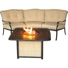 2017 Online Traditions 2 Piece Fire Pit Seating Group with Cushions