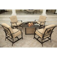 Traditions 5 Piece Fire Pit Seating Group with Cushions