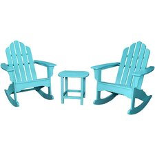 2017 Coupon 3 Piece Rocking Adirondack Seating Group