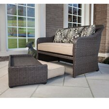 Langdon Hills 2 Piece Lounge Chair & Ottoman Set with Cushions