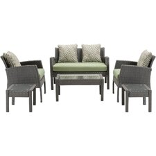 Chelsea 6 Piece Space-Saving Patio Set with Cushion
