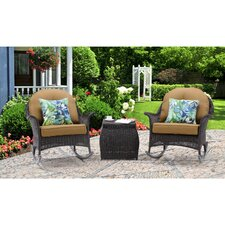 Amazing San Marino 3 Piece Rocker Seating Group with Cushions