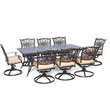 Cheap Traditions 9 Piece Dining Set with Cushion