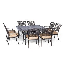 Best #1 Traditions 9 Piece Dining Set with Cushion
