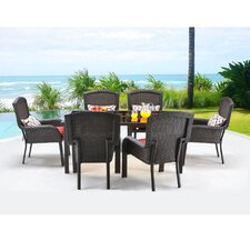 Strathmere 7 Piece Dining Set with Cushions