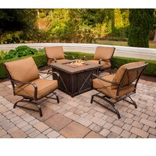 Summer Nights Aluminum 5 Piece Deep Seating Group with Cushion