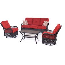 Reviews Orleans 4 Piece Deep Seating Group with Cushions