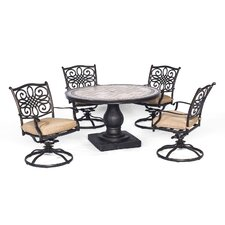 Coupon Monaco 5 Piece Dining Set with Cushion