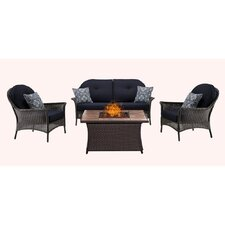 Find San Marino 4 Piece Fire Pit Lounge Seating Group with Cushions