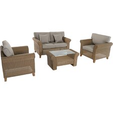 Sea Breeze 4 Piece Deep Seating Group with Cushions