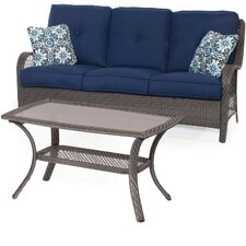 Orleans 2-Piece Patio Seating Group with Cushion