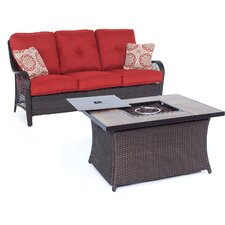 Orleans Woven 2 Piece Deep Seating Group with Cushion