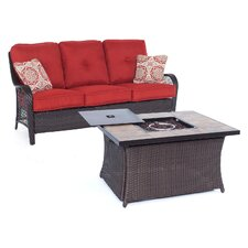 Wonderful Orleans Woven 2 Piece Deep Seating Group with Cushion